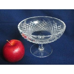 """6"""" Crystal Compote Footed Pedestal Candy Nut Dish"""